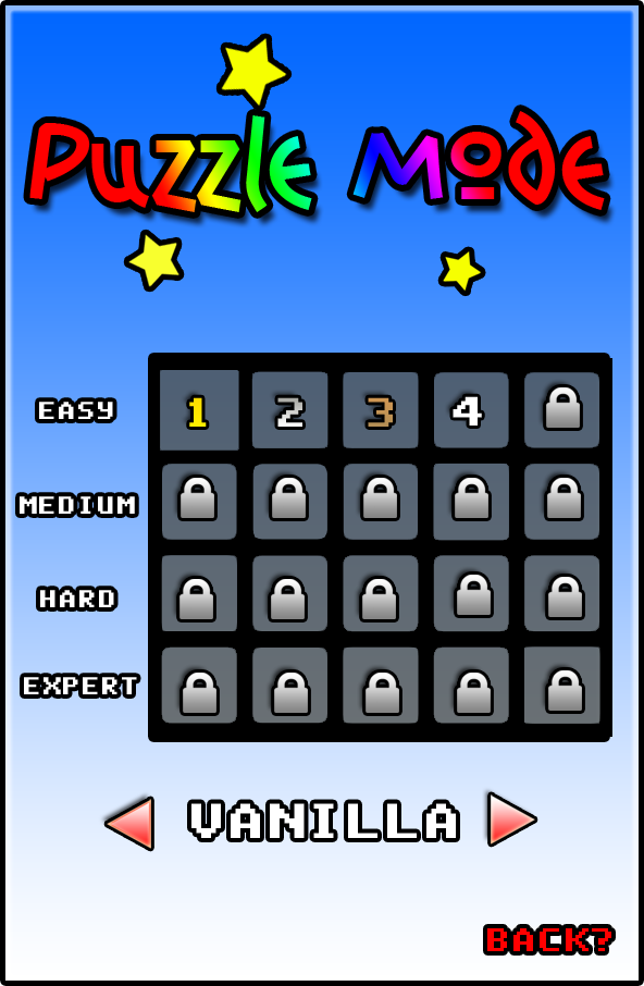 Puzzle Selection menu (OLD)