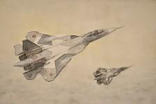 Su-50 watercolor