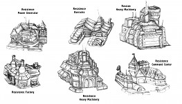 Buildings concept art