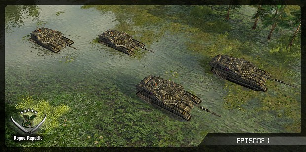 Morning begins with tanks
