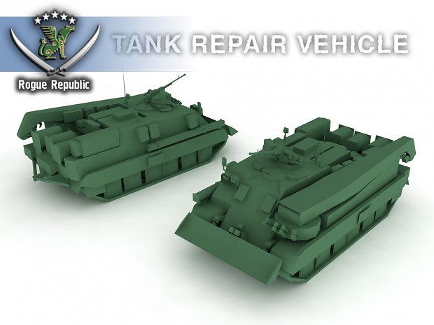 Tank repair vehicle