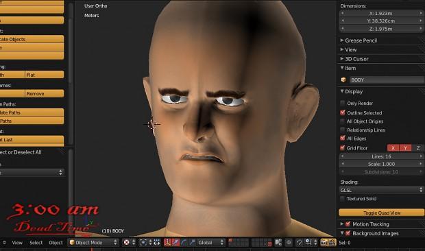 Character Face. WIP, inside Blender