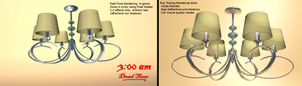 Real-Time vs Ray Tracing (Movie Quality) Rendering