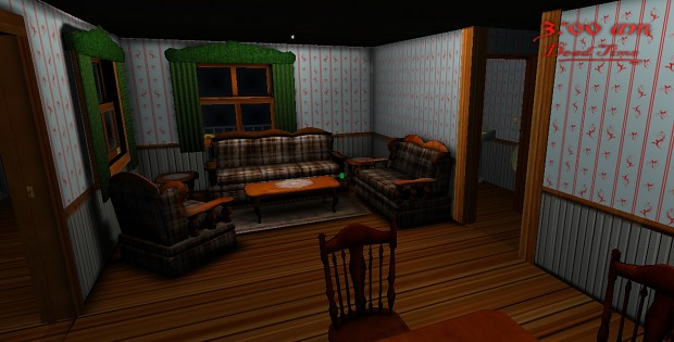 Living Room. High quality shaders
