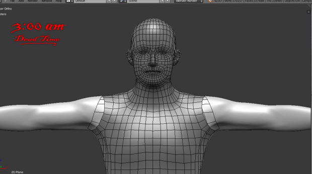 Retopology for a main character