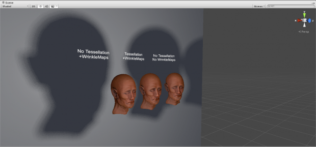 Skin Shader, on Deferred mode, with custom soft shadows