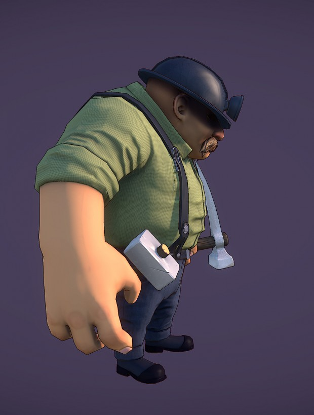 Miner Posed