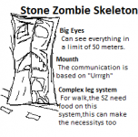 Stone Zombie Skeleton (the brain is a stone)