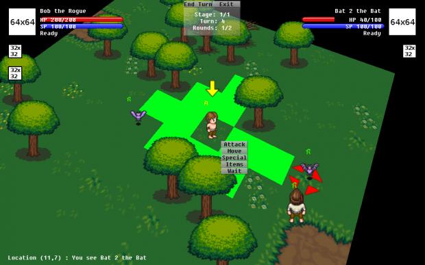 Dungeon Tactics 2.0 Interface WIP