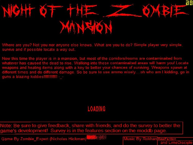 Night of the Zombie New Map-Mansion