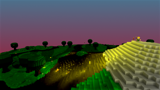 Voxel sunset