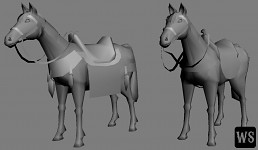 Animals Low Poly III - Saddle Variations