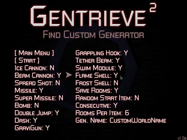 Gentrieve 2 Custom Game Options