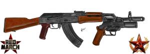 Soviet AKM with grenade launcher