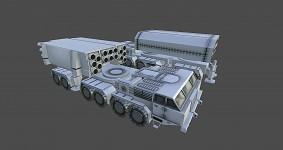 Pact MLRS Snowfall pre-texture render