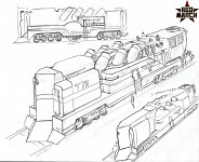 3rd faction armoured train concept art