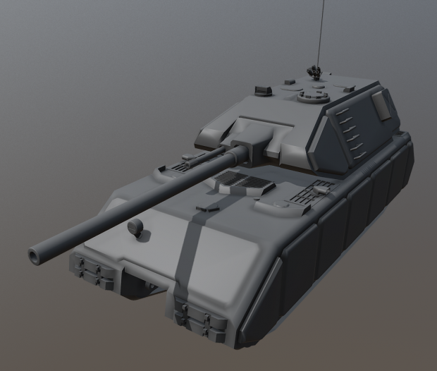 Maus with cannon turret