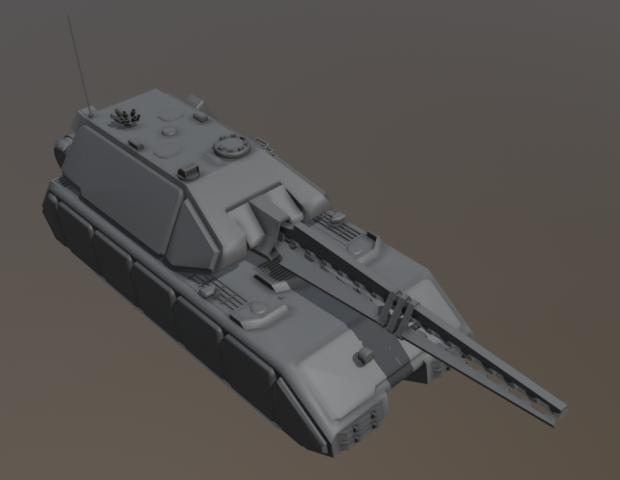 Maus with railgun turret