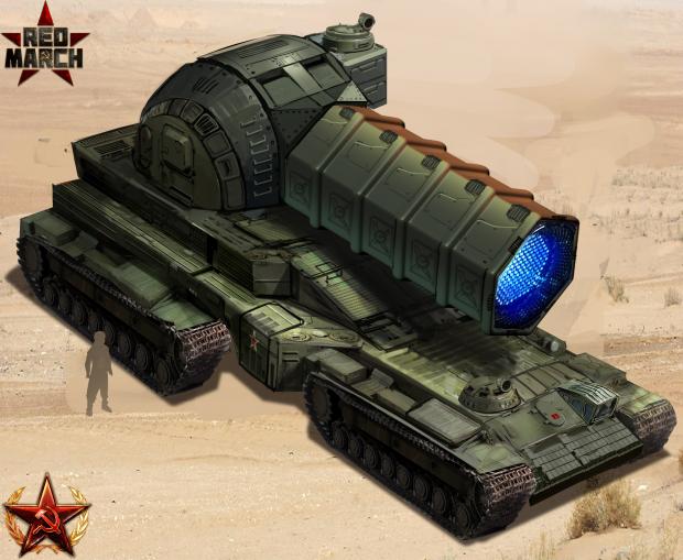 """Self-propelled laser system """"Dawn"""" concept art V3"""