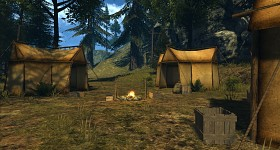 Camping Settlement on the Coast