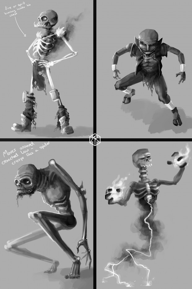 Enemy demon character sketches