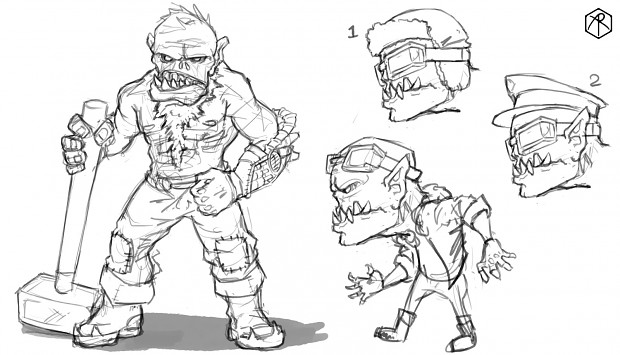 Early orc sketch