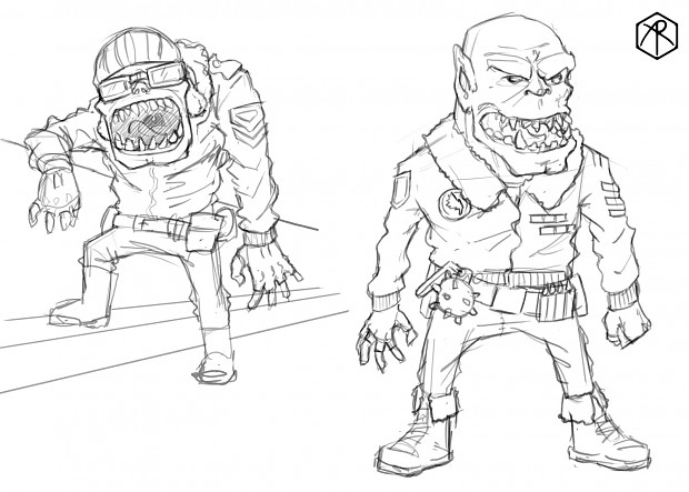 Orc character poses