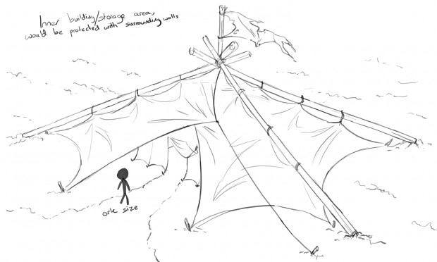 Tent barracks sketch