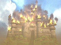The burning castle