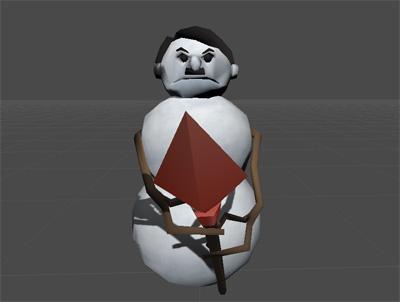 Hitler snowman