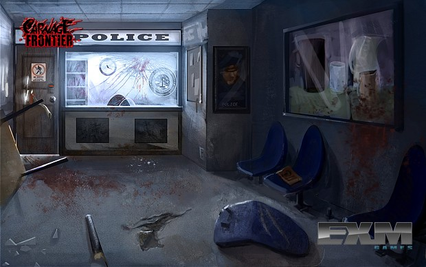 Concept Art for the Police Station Map