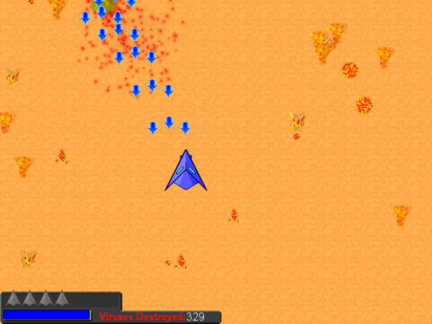 Blasting Viruses in the Air Battle Minigame