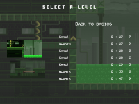 Level selection menu + Leaderboards