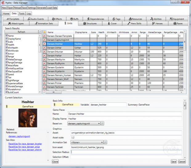 Hydra Data Manager Screen Shot