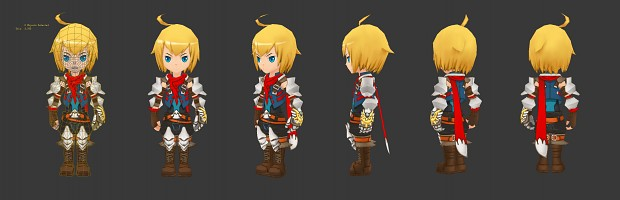One of the main character's finished model.