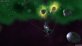 Terran Alliance Battle Cruiser in combat