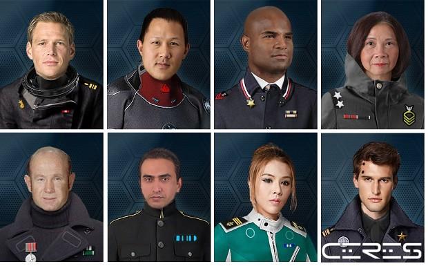 Terran Alliance captain portraits