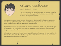 Aepedia: Uf Sagam, Hero of Aedion