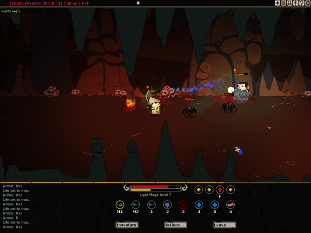 Fighting a Spider Cultist