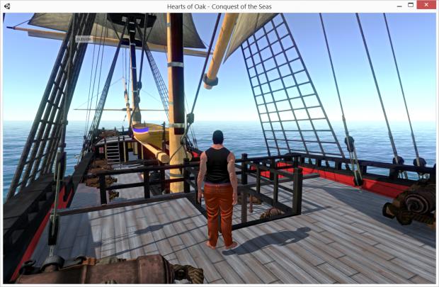 Pre-Alpha 1.8 - Walking on deck