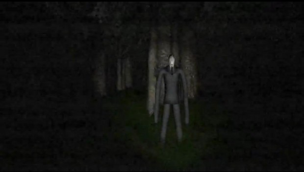 Slenderman in action