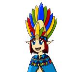 Made an Elf Priestess. Named her Ipantilia.