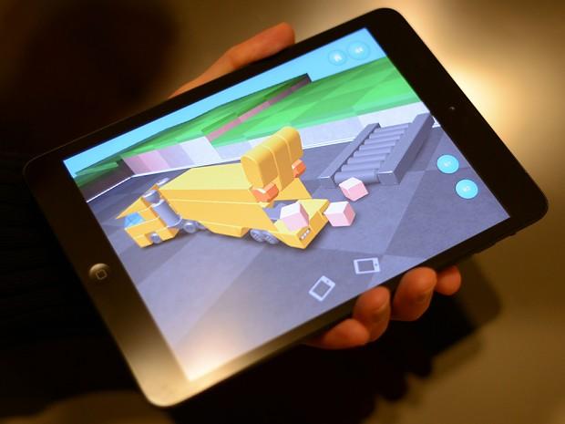Blocksworld running on the iPad Mini