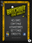 Brickout Menu