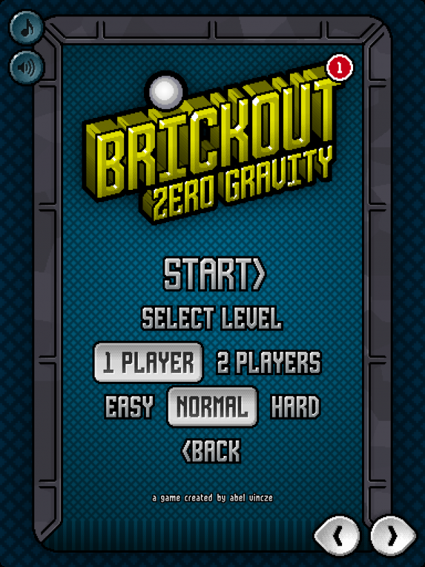 Brickout Zero Gravity screenshots
