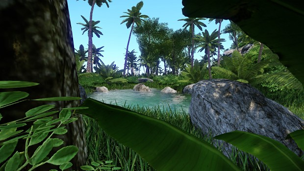 Pre-Alpha in game jungle screenshots