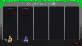 New Quest Complete Screen