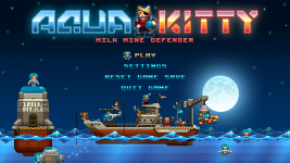 Aqua Kitty main menu screen