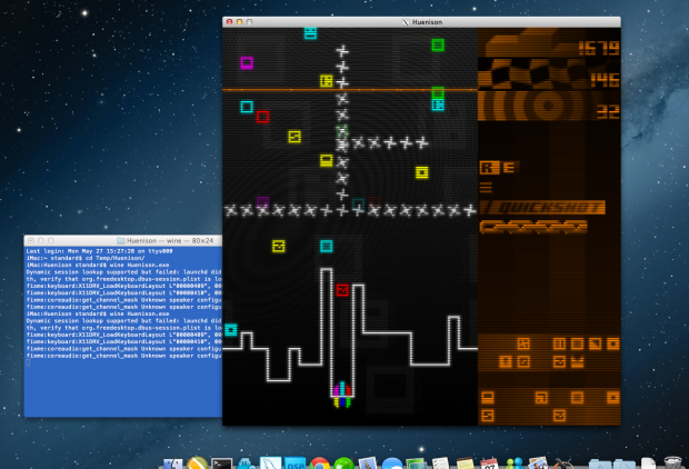 Huenison on MacOS+Wine