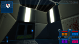 Double-tall rooms + keycode doors